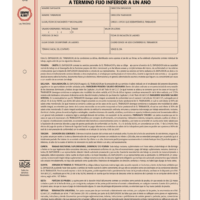 Contrato Individual De Trabajo Inferior a Un Año