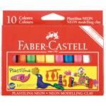 Plastilina X 10 Colores Neon Faber Castell