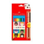 Caja de Colores Fabercastell Caras y Colores x 12 + 6 especiales