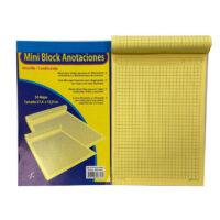 Block Amarillo 1/2 Carta Cuadriculado