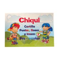 Cartilla Puntos, líneas y trazos Pre-escolar Chiqui