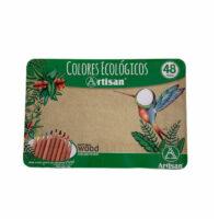 Caja de Colores Ecológicos Artisan Caja Metalica x 48