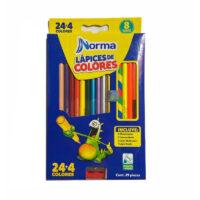 Caja de Colores Norma 24+4
