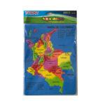 Rompecabezas Mapa de Colombia en Foamy