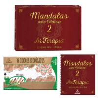 Mandalas Para Colorear (libro + 36 Colores)