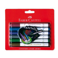 Marcadores Metalizados Faber Castell x 6