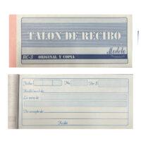 Talonario de Recibo RC-3 Original y Copia