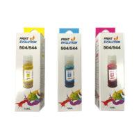 Tinta Genérica Epson 504/544 Colores 70ml