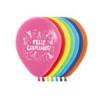 Globos (Bombas) Feliz Cumpleaños Gorritos x 12