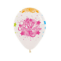 Globos (Bombas) Feliz Cumpleaños Neón Infinity x 12