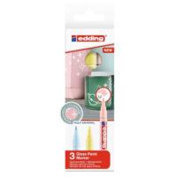 Marcadores Edding Tinta Opaca Brillante Pastel 751 x 3