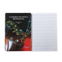 Cuaderno de Música Argollado Profesional