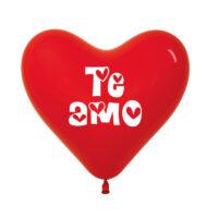 """Globos (Bombas) Corazón 12″ """"Te amo"""" x 12"""