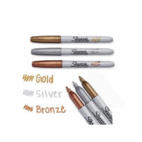 Marcador Permanente Sharpie punta delgada Metalizados