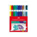 Plumones Faber Castell Bicolor x 10