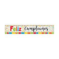Cartel Feliz Cumpleaños Jumbo Metalizado