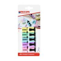Resaltadores Mini Pastel Edding x 5